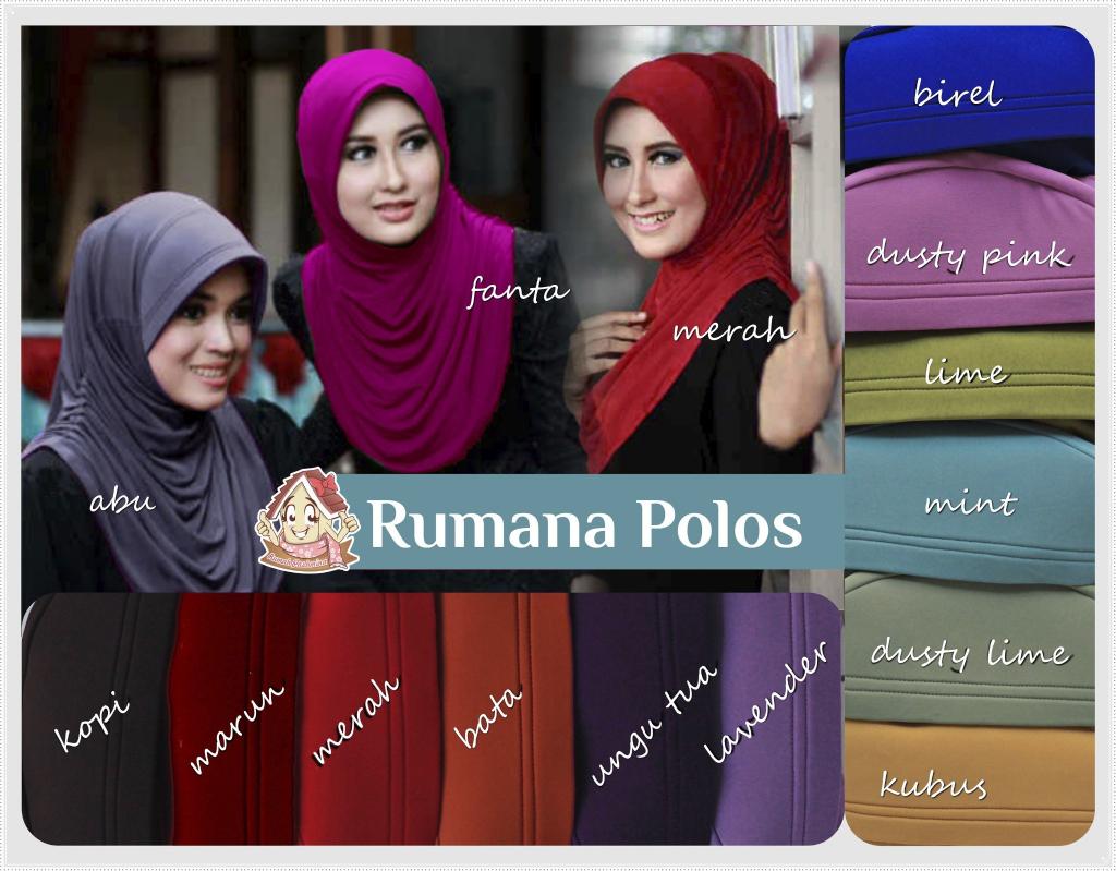 Jilbab Instan Rumana Polos / Hijab Rumpol
