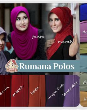 Jilbab Instan Rumana Polos / Hijab Rumpol 3