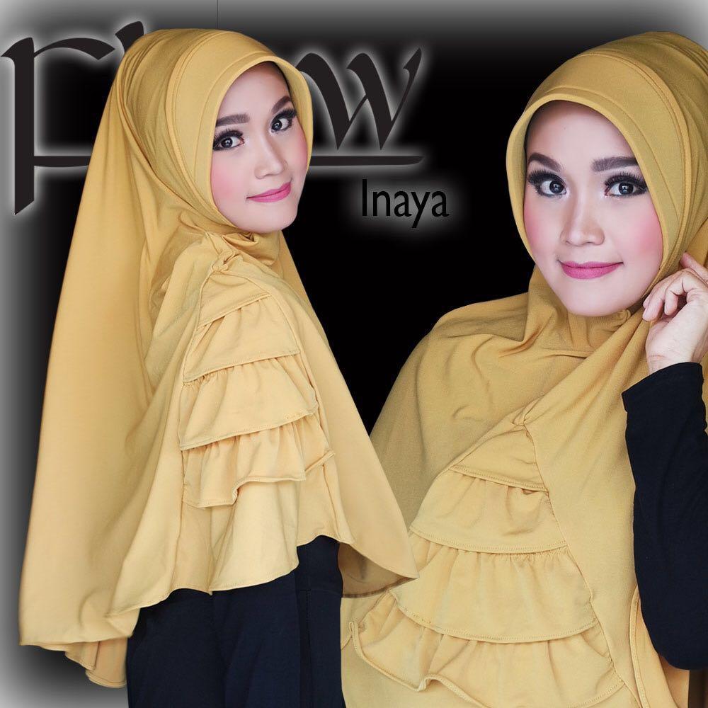 hijab terbaru dan cara memakainya jilbab inaya flow