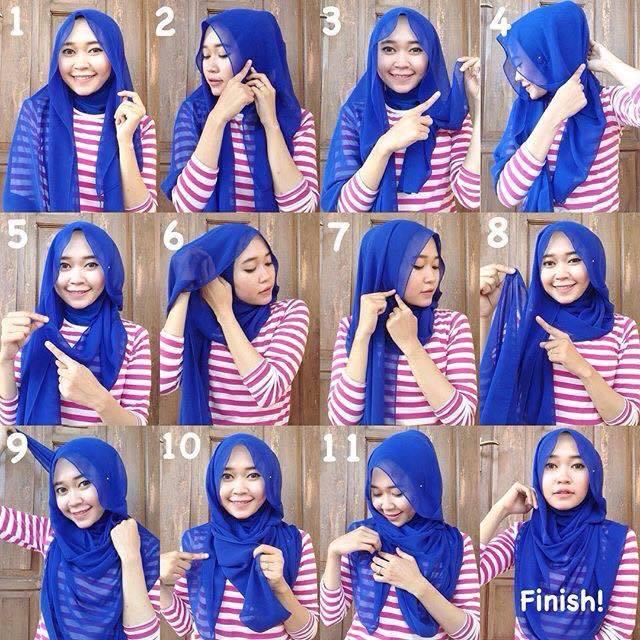 tutorial jilbab 2