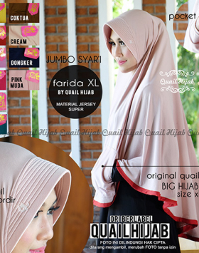 Bergo farida Pocket (Saku) 5