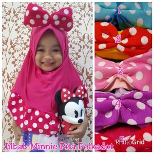 Kerudung Anak pita Minnie
