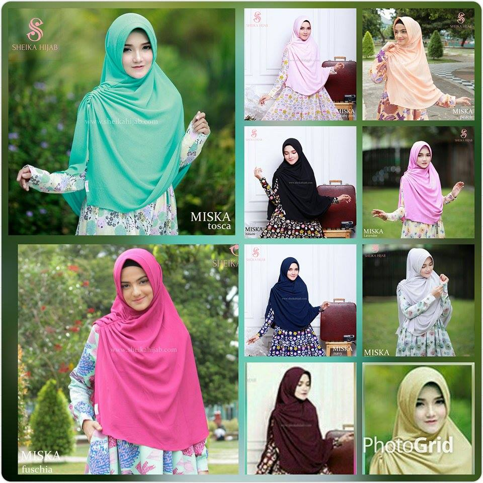 Premium Jilbab Syari Tanpa Pet Model Khimar Dhea Free Bross Pita Miska Semi Antem