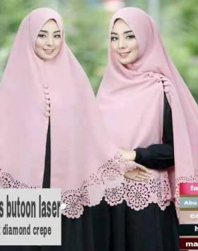 Khimar Diamond Fairus Kancing Butoon 1