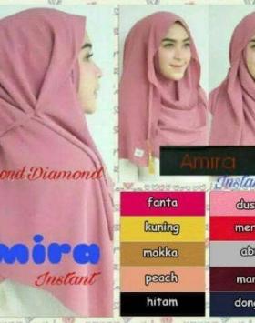 model jilbab amira