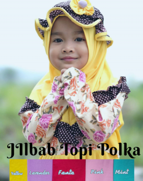 jilbab anak polka