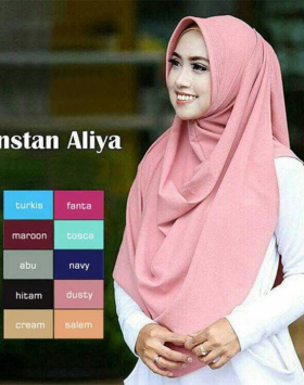 Jilbab pashmina aliya Buble Pop 1