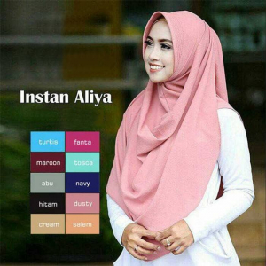 Jilbab pashmina aliya Buble Pop