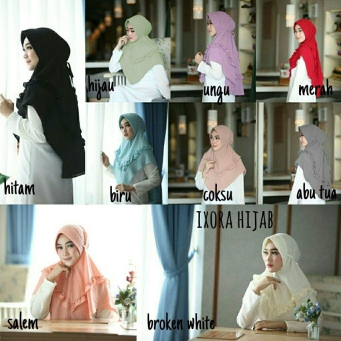 hijab ixora instan