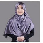 Jilbab instan pesta mewah model pasmina berbahan satin