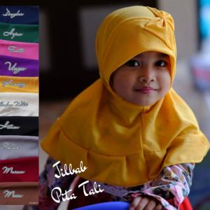 Jilbab Anak Pita Tali
