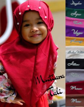 jilbab anak mutiara tali
