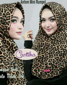 Jilbab Rumpol Leopard Cantika 7