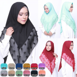 JILBAB RUBY BUBLE POP LINEN