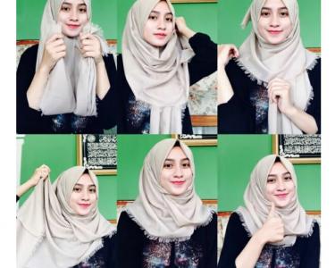 Tutorial jilbab segi empat rawis yang mudah diterapkan