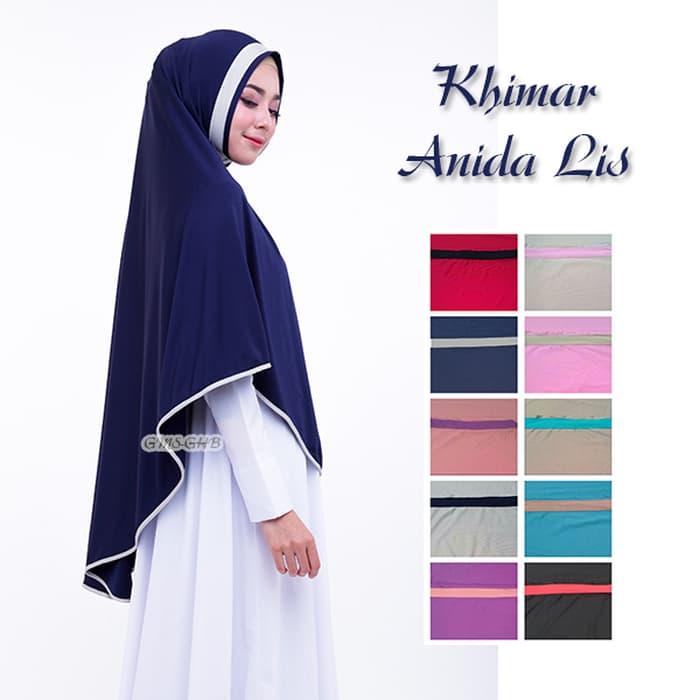 Kerudung Khimar Anida Lis