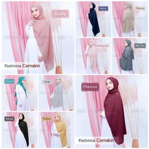 Pashmina Cornskin Hijab pashmina cantik 2019